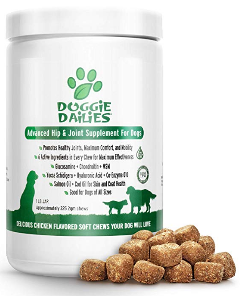 Doggie Dailies Advanced Hip & Joint Supplement for Dogs