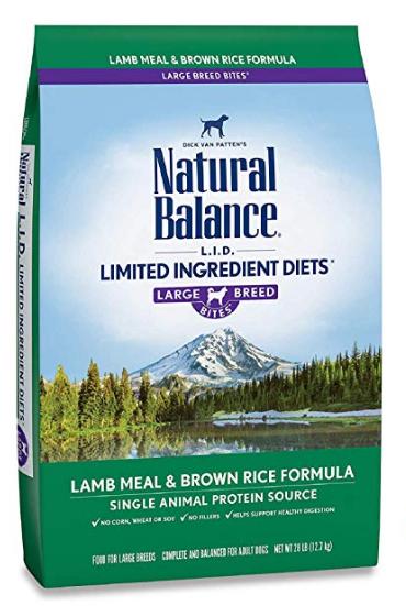 Natural Balance L.I.D. Limited Ingredient Diets Lamb Meal & Brown Rice Dry Dog Formula