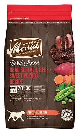 Merrick Grain Free Real Buffalo and Sweet Potato Dry Dog Food