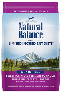 Natural Balance L.I.D. Diets Sweet Potato & Venison Formula Dog Food