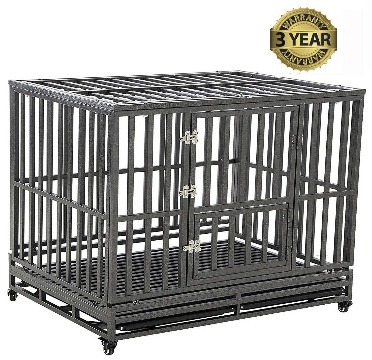LUCKUP Heavy Duty Large Dog Cage