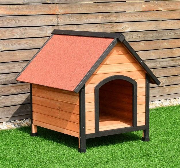 tangkula pet dog house wooden pet kennel