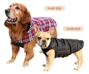 kuoser cozy waterproof windproof reversible british style plaid dog vest