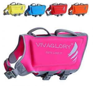 vivaglory neoprene life vest with superior buoyancy and rescue handle