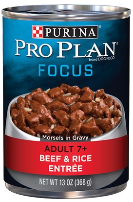 Adult 7+ Beef & Rice Entree Morsels in Gravy