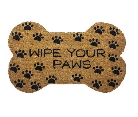 entryways wipe your paws bone shape doormat