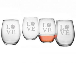 susquehanna glass love paw stemless