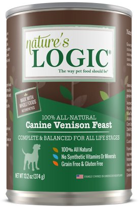Nature\'s Logic Venison Feast Canned Dog Food