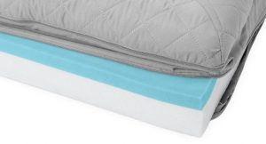 FurHaven Quilted Cooling Gel Bolster Cat & Dog Bed w/Removable Cover inside