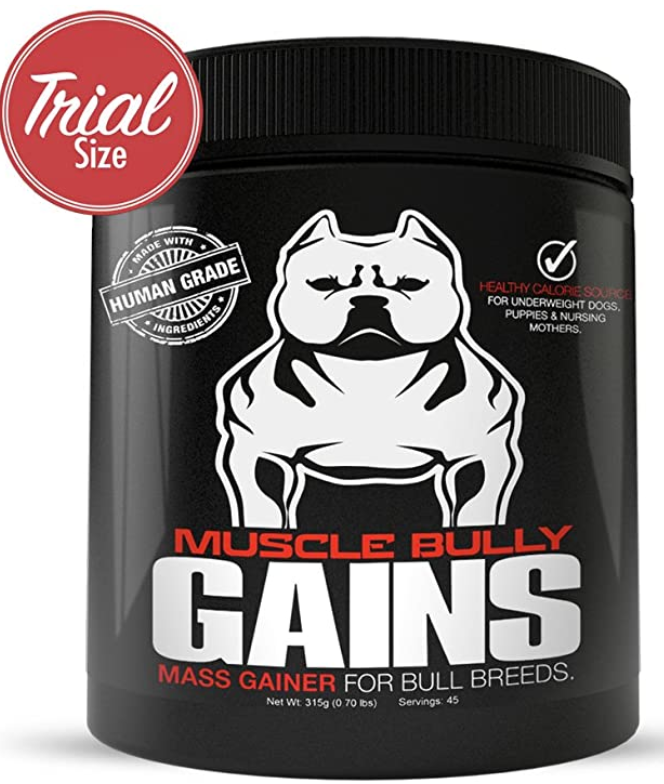 Muscle Bully Gains - Mass Weight Gainer, Whey Protein for Dogs