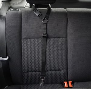 Car Headrest Restraint Adjustable Nylon Fabric Dog Restraints