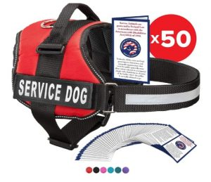 Industrial Puppy Service Dog Vest with Hook and Loop Straps and Handle