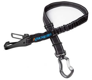 IOKHEIRA Dog Seat Belt, Updated 3-in-1 Multifunctional Pet Safety Belt