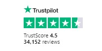 Trustpilot rating for bark.com