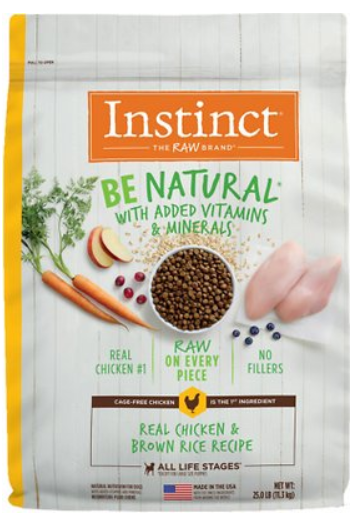 Instinct Be Natural Real Chicken & Brown Rice Recipe