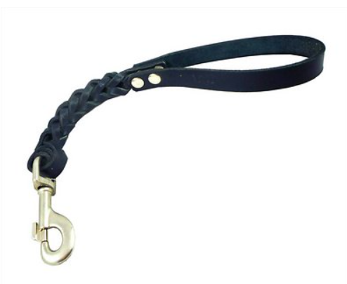 Dogs My Love Braided Leather Short Dog Leash