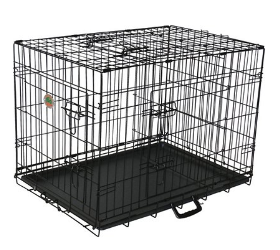 Go Pet Club 3-Door Collapsible Wire Dog Crate